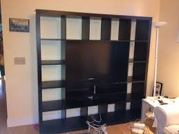 under tv bookshelves wall unit decofurnish