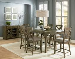 Counter Height Dining Room Tables by Standard Furniture Omaha 7 Piece Counter Height Table Set In Grey