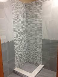 Bathroom Tile Images Ideas Cool Bathroom Tile Idea With Light 12 X 24 Tiles On Top Of