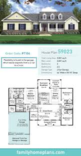 Two Car Garage Size by 66 Best Ranch Style Home Plans Images On Pinterest Ranch House