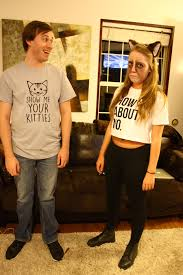 plus size couple halloween costumes ideas grumpy cat and my biggest fan creative couples costumes for