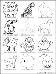 chinese zodiac coloring page geography asien asia pinterest