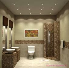 bathroom modern small bathroom with small recessed light feature