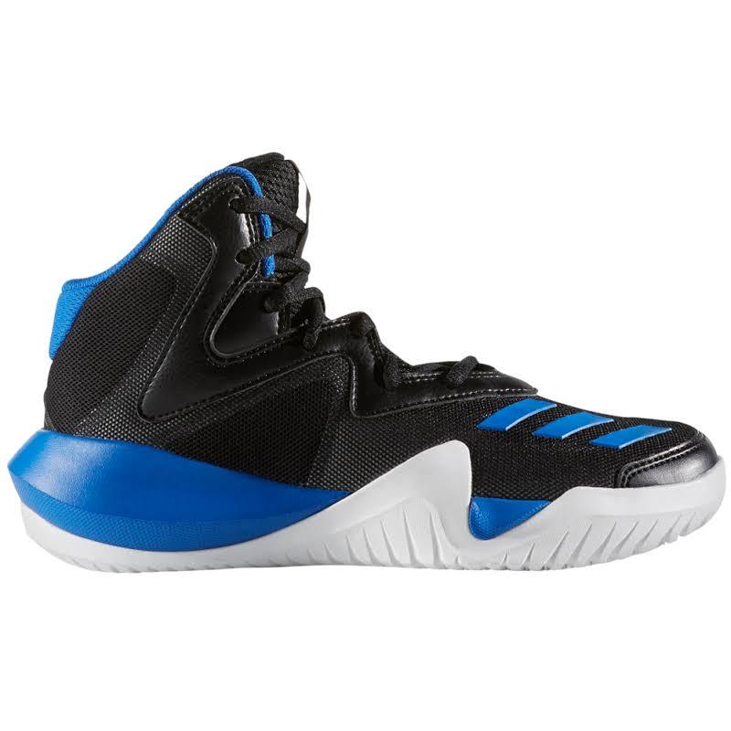 Adidas Crazy Team Core Black / Blue Light Solid Grey High-Top Basketball 6.5M
