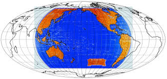 Peters Projection World Map by Coordinate System Appropriate Map Projection For The Pacific