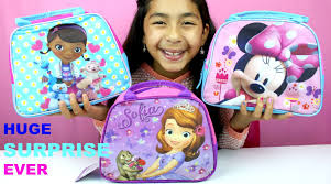 Minnie Mouse Toy Box Doc Mcstuffins Sofia The First And Minnie Mouse Surprise Lunch