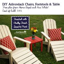 Outdoor Furniture Finish by Diy 45 Five Piece Outdoor Adirondack Furniture Set