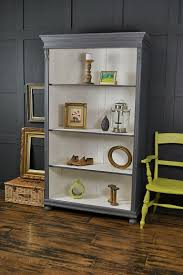grey u0026 white shabby chic antique pine bookcase artwork painted