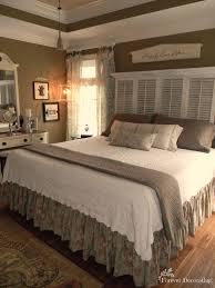 no cost decorating master bedroom love the shutter headboard
