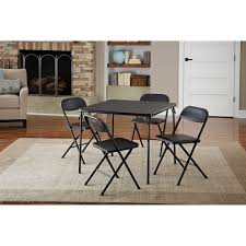 Chairs For Kitchen Table by Cosco 5 Piece Card Table Set Black Walmart Com