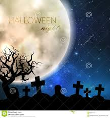 halloween flyer background free halloween illustration with full moon and cemetery on the night
