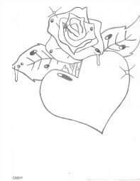 my graffiti rose with heart drawing heartus on fire for jesus by