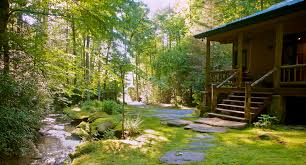 Luxury Cottage Rental by Brevard Nc Waterfront Cabins Trout House Falls