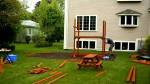 Cedar Playsets Rocky Mountain Retreat Installation Swing Set Installer Youtube