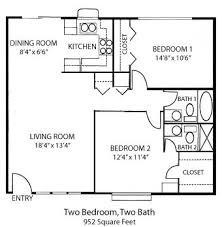 Floor Plan 2 Bedroom Apartment Tiny House Single Floor Plans 2 Bedrooms Bedroom House Plans