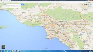 Google Maps Los Angeles by Los Angeles California Map