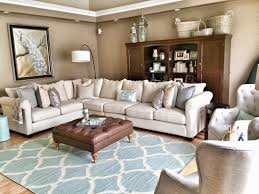 Living Room Colors With Brown Furniture Tie In The Carpet Color By Using Plenty Of Same Colored