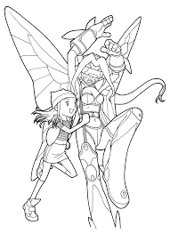 digimon coloring pages 71 gif 2400 3300 lineart digimon
