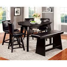 furniture of america ollivander 7 piece counter height glass top