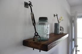 reclaimed wood turnbuckle wall shelf