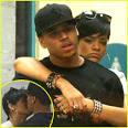 Rihanna and Chris Brown share