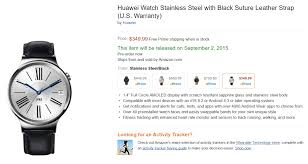 black friday preview amazon huawei watch appears on amazon with 350 price tag and sep 2nd