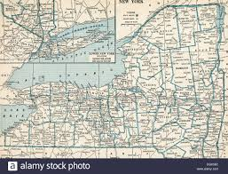 New York State Map by Old Map Of New York State 1930 U0027s Stock Photo Royalty Free Image