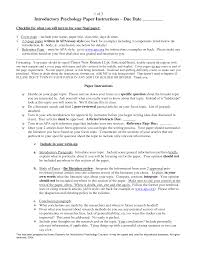 Research Paper Outline Example Apa Style
