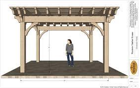 Timber Frame Pergola by Up U0026 Coming 16 U0027 X 16 U0027 Timber Frame Barrel Top Pergola Kit