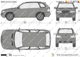 Bmw X5 E53 - the blueprints com vector drawing bmw x5 e53