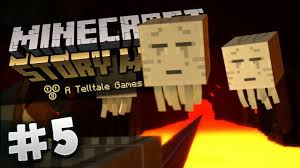 minecraft story mode 5 episode 1 the nether youtube