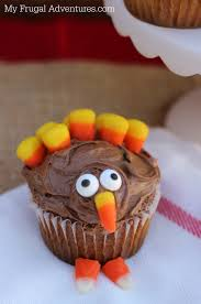 cute thanksgiving cupcakes thanksgiving dessert fun turkey cupcakes my frugal adventures