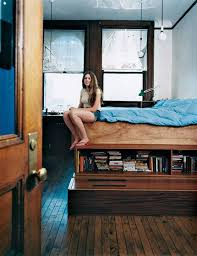 Make A Platform Bed With Storage by Platform Bed With Storage Underneath In An Nyc Building Where Her