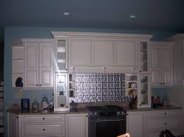 Metal Backsplash - White tin backsplash
