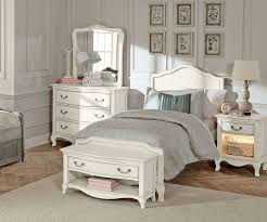 Antique White Youth Bedroom Furniture Kensington White Finish Charlotte Twin Size Panel Bed 20010 Ne