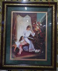 large like new home interior picture of woman and child only
