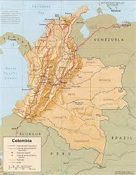 Political Map Of South America Map Of Colombia Nations Online Project Colombia Geography And