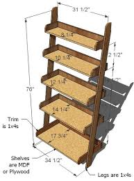 Free Wooden Bookcase Plans by Ana White Leaning Wall Shelf Diy Projects