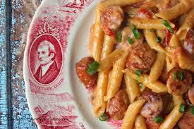 Pasta Recipes One Pan Cheesy Smoked Sausage U0026 Pasta Recipe Budget Savvy Diva