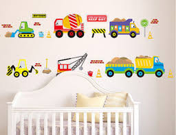 online get cheap construction wall decals aliexpress com 50x70cm digger wall decals construction trucks tractor room decor art stickers colorful for kids rooms brand