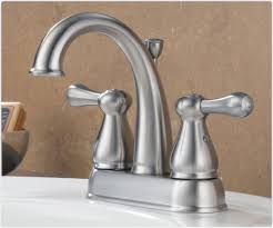 delta 2575lf ss leland two handle centerset bathroom faucet