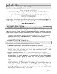 Human Resources Resume Samples by Resume Sample Human Resources Resume