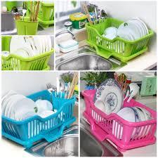 Plastic Dish Drying Rack 2017 Wholesale Kitchen Plastic Draining Tray Dish Drainer Drying