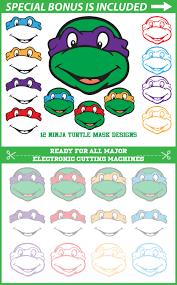 disney ninja turtle svg ninja mask files turtle monogram svg clip