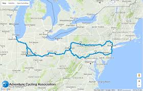 North Shore Chicago Map by Fun Maps Bike Over 1 100 Miles From Chicago To Nyc On This