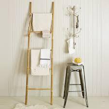 bathroom interesting ladder shelf for towels and bathroom