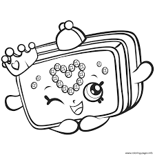 season 7 shopkins princess purse coloring pages printable