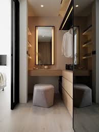 Space Saving Closet Ideas With A Dressing Table Studio Room Vanity Area At Marriott Singapore Designed By Hba