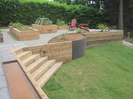 Outdoor Wall Planters by Wood Retaining Wall Planters Jpg Retainer Walls Pinterest