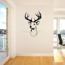 home decor wall sticker stags head deer trophy antlers steer wall home decor wall sticker stags head deer trophy antlers steer wall art sticker wall decal diy home decoration wall mural removable room sticker vinyl wall